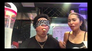BLINDFOLD EATING CHALLENGE