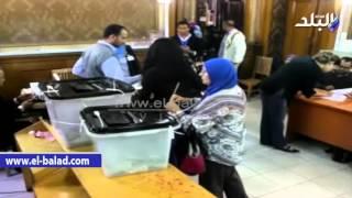 بالفيديو والصور..مروة هشام بركات تساعد  معاقاً على الإدلاء بصوته
