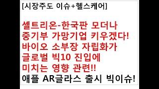 [시장주도 이슈+헬스케어]셀트리온-한국판 모더나중기부 …