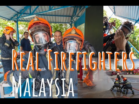 How to become firefighter | Malaysian Bomba | Follow Mike in Malaysia
