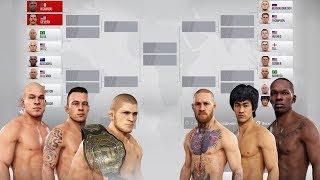 БОРЦЫ vs УДАРНИКИ ГРАН-ПРИ ТУРНИР в UFC 3 ХАБИБ/КОНОР/БРЮС ЛИ