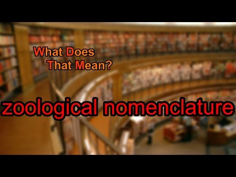What does zoological nomenclature mean?