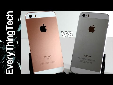 Iphone Se Vs Iphone 5s In