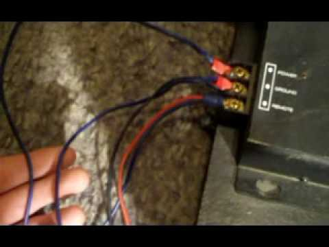 hqdefault how to hook up a crossover to your amp youtube amp crossover wiring diagram at nearapp.co