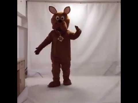 Cute Golden Scooby Doo Dog Mascot Adult Costume Youtube