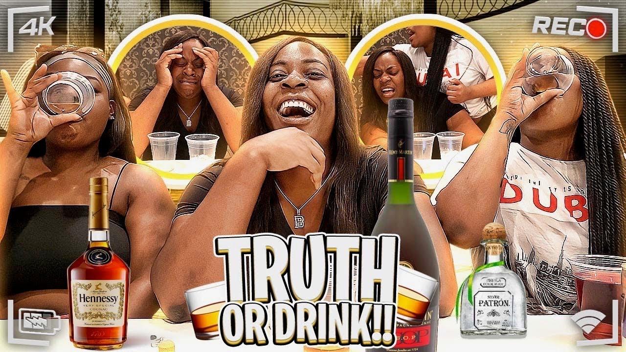 TRUTH OR DRINK CHALLENGE..IT GOT LIT