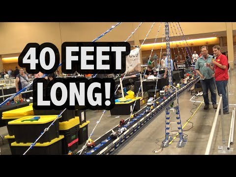 Giant LEGO Cable-Stayed Bridge with Lights | Brickworld Chicago 2017