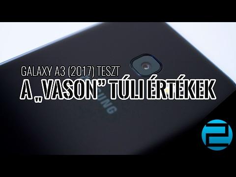"""Samsung Galaxy A3 (2017) teszt - túl a """"vason"""""""