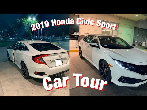 NEW CAR TOUR// 2019 Honda Civic Sport