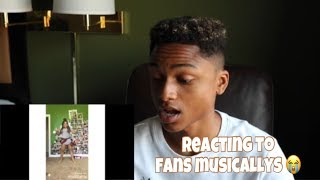 REACTING TO FANS MUSICALLYS | Andre Swilley