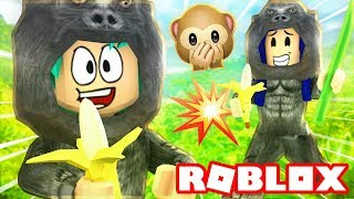 ROBLOX GORILLA SIMULATOR! BECOMING KING OF THE JUNGLE!!
