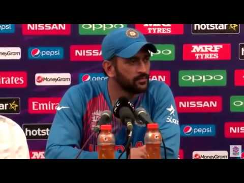Dhoni slapped on reporter's bullshit question after India vs West Indies post match press conference