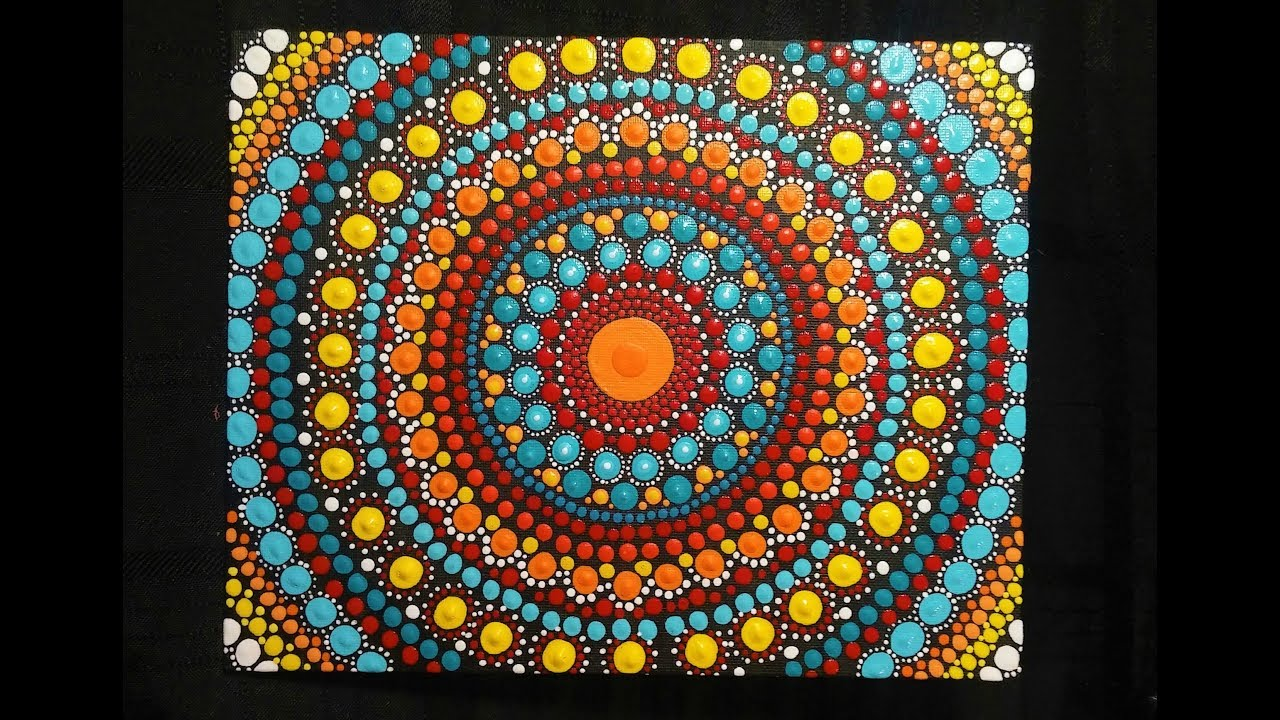 How To Paint Dot Mandalas Full Step By Step Tutorial Youtube