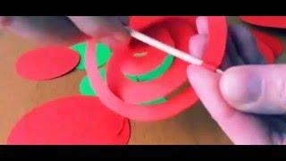 Как сделать цветы из бумаги. Цветы из бумаги. Оригами. Розы.(Как сделать цветы из бумаги. Декор комнаты своими руками. декор для дома. Картина из розочек. Для того что..., 2015-06-22T14:38:43.000Z)