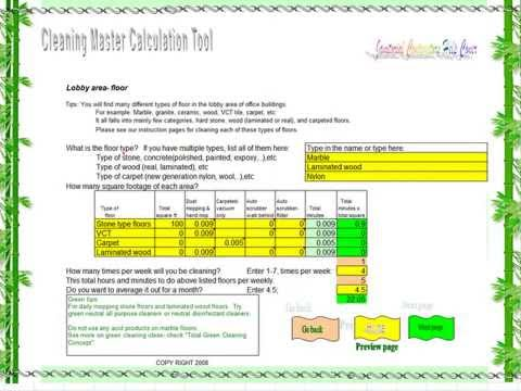 Master cleaning bid calculator by janitorial contractors help free download youtube also rh