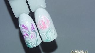 🌼Дизайн ногтей гель лаком🌼Nail Design Shellac🌼Весна🌼Цветы на ногтях🌼