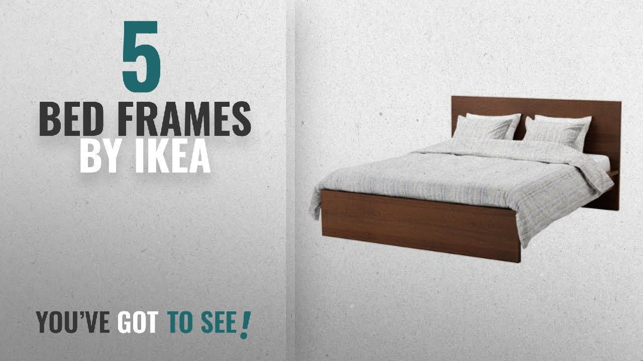 Top 10 Ikea Bed Frames [2018]: Ikea Full/Double Size High Bed Frame, Brown  Stained Ash Veneer,