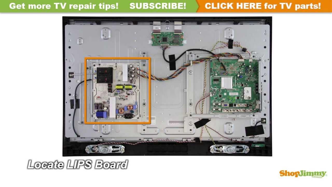 medium resolution of vizio v 0500 0412 0770 power supply backlight inverter boards replacement guide lcd tv repair