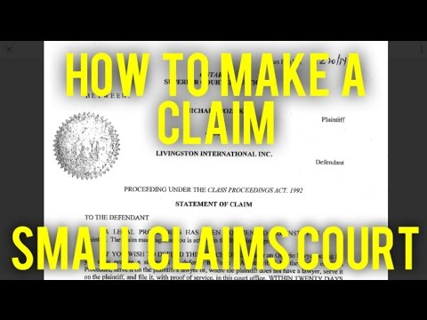 Drafting a Claim in Small Claims Court (ALL CANADA)
