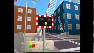 ROBLOX - Bahnübergang mit Halogenlampen / UK Railway Crossing / ROBLOX Level Crossing