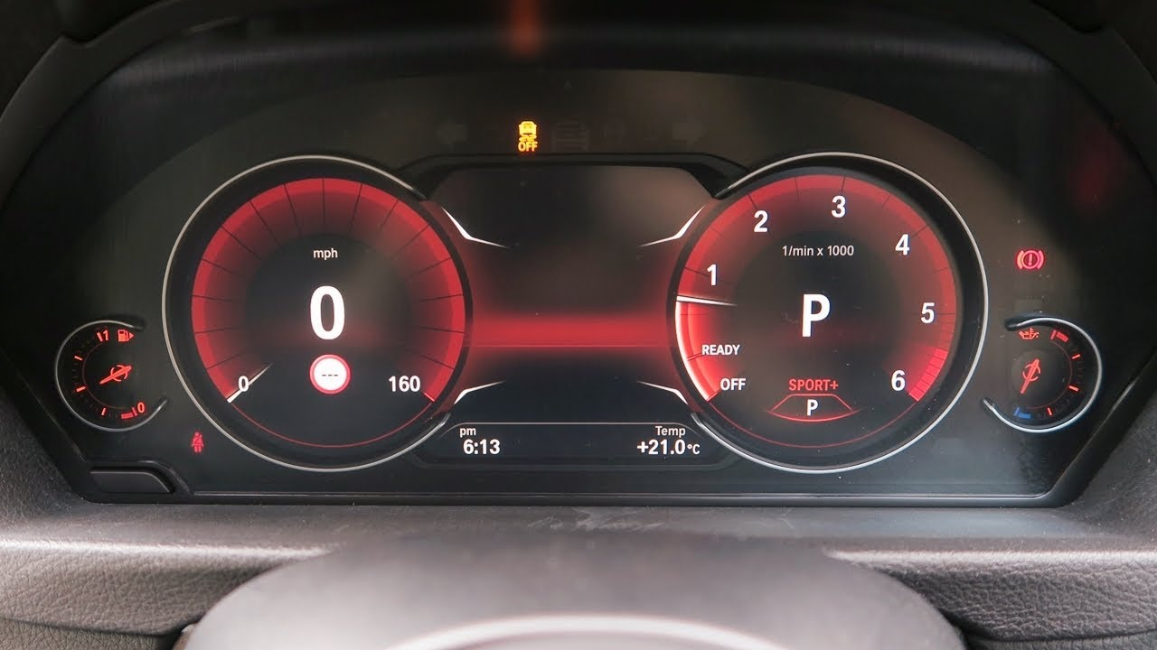 BMW 6WB OEM Full Digital Instrument Cluster Cockpit Dials - 1st Retrofit in  the UK!