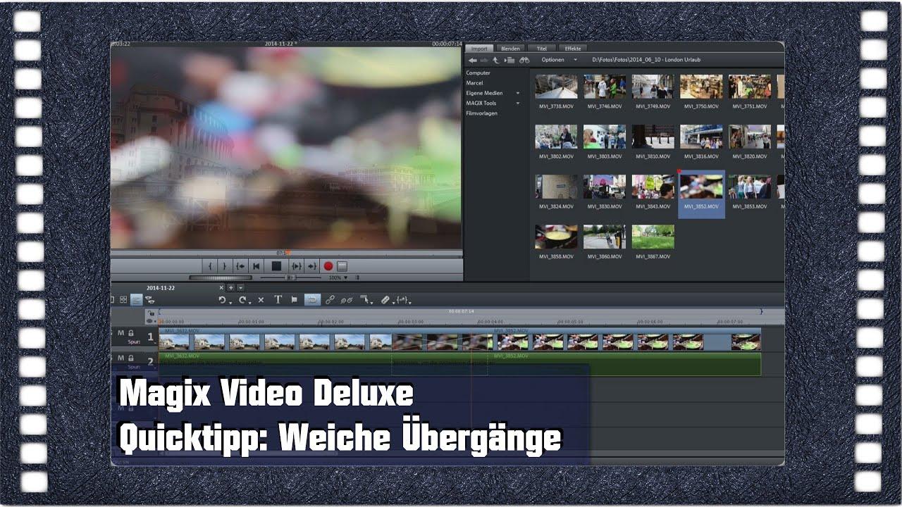 Magix Video Deluxe 2015 Quicktipp: Weiche Übergänge [Grundkurs Tipp ...