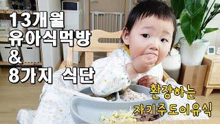 13개월 아기 유아식 먹방 / 유아식 식단 8가지 공개…
