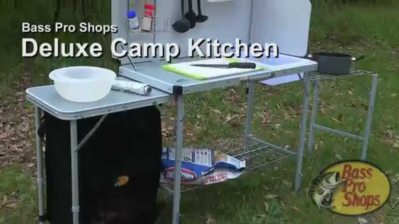 Camping Kitchen Bass Pro Shops Deluxe Camp Kitchen Youtube