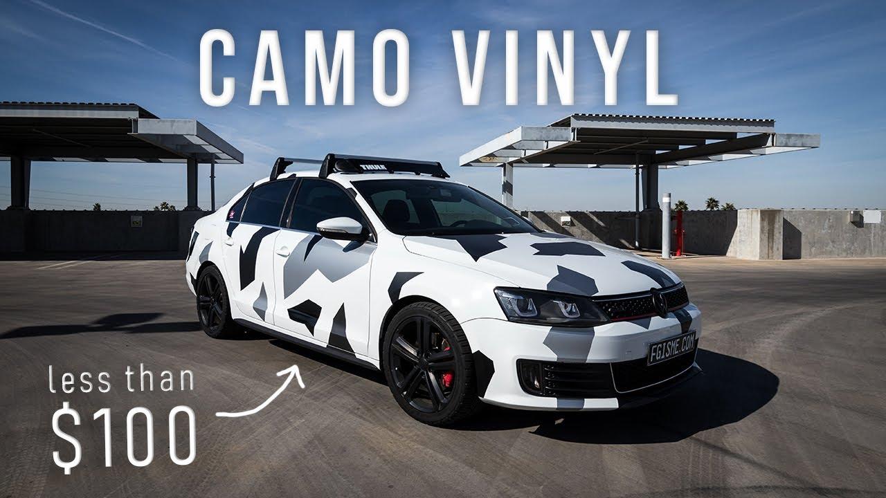 How To Camo Vinyl Wrap A Car Youtube