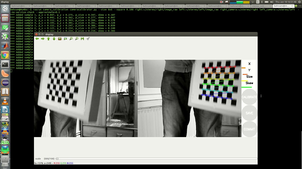 Stereo Camera Calibration with ROS and OpenCV