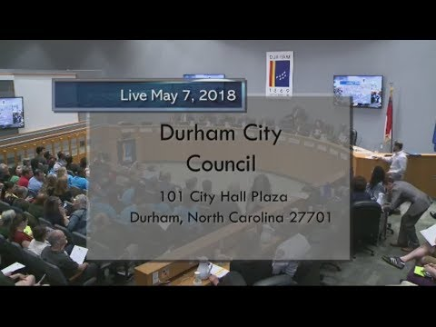 Durham City Council May 7, 2018