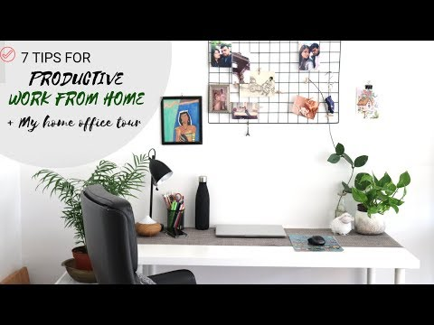 Tips for Productive WORK FROM HOME |MY HOME OFFICE TOUR 2018|HomeOffice Decor under 50Euro|BeingDeb