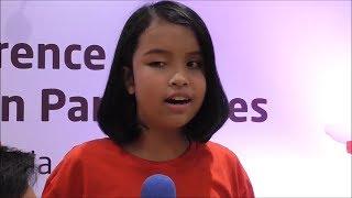 Suara Emas Putri Ariani Penyanyi Tuna Netra Nyanyikan Lagu Asian Para Games 2018