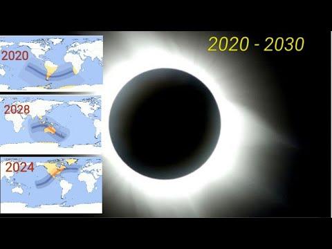 Eclipse solar total calendarios 2020 - 2030