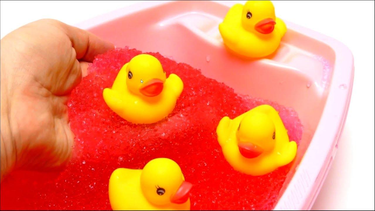 Toy Slime Bath for Rubber Ducks Simba Glibbi Lava Red 🛁