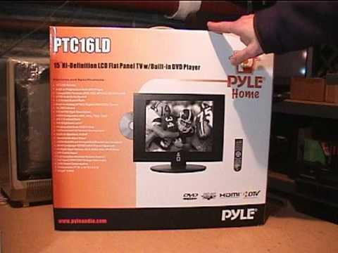 "Pyle PTC16LD 15"" HDTV/DVD unboxing & test"