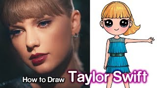 How to Draw Taylor Swift | Delicate Music Video