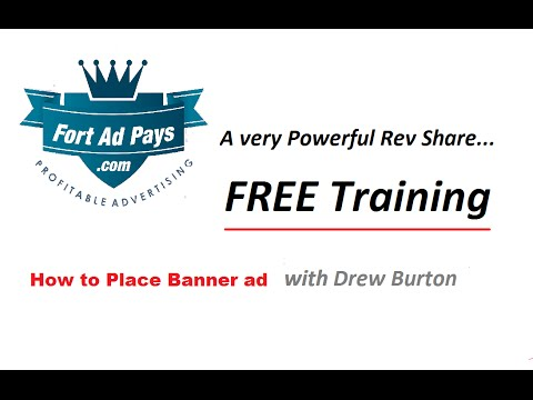 fort ad pays how to place a banner ad with drew burton