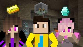 Survival em Família #3: FICAMOS RICOS NESSA CAVERNA 😮💎! (Minecraft Pocket Edition)