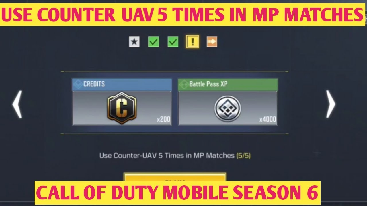 Use Counter Uav 5 Times In Mp Matches Survive And Destroy Call Of Duty Mobile Cod Mobile Youtube