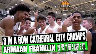Cathedral Wins 3rd Straight City Championship | BLOWS OUT Tough Crispus Attucks Squad