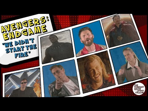 Jeff Stevens - Cast of Avengers sings We Didn't Start the Fire