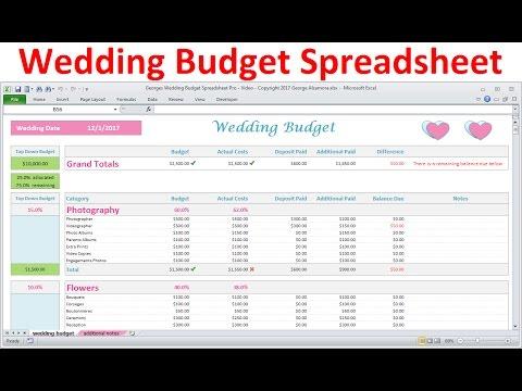 Wedding Budget Spreadsheet - Simple Excel Wedding Budget Planner - wedding planning excel spreadsheet