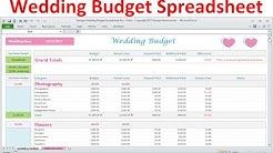 Wedding Budget Spreadsheet - Simple Excel Wedding Budget Planner - Download
