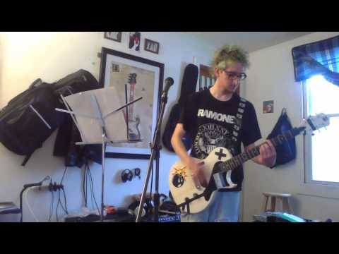 guitar cover:the ramones outsider/teenage labotmay/blitzkrieg bop (READ THE DISCRITION)