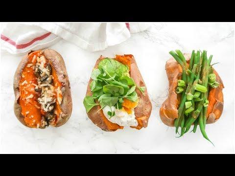 Stuffed Sweet Potatoes 3 Ways!   healthy easy paleo recipes