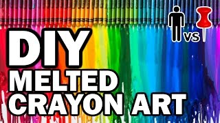 Diy Melted Crayon Art - Man Vs Pin - Pinterest Test #59