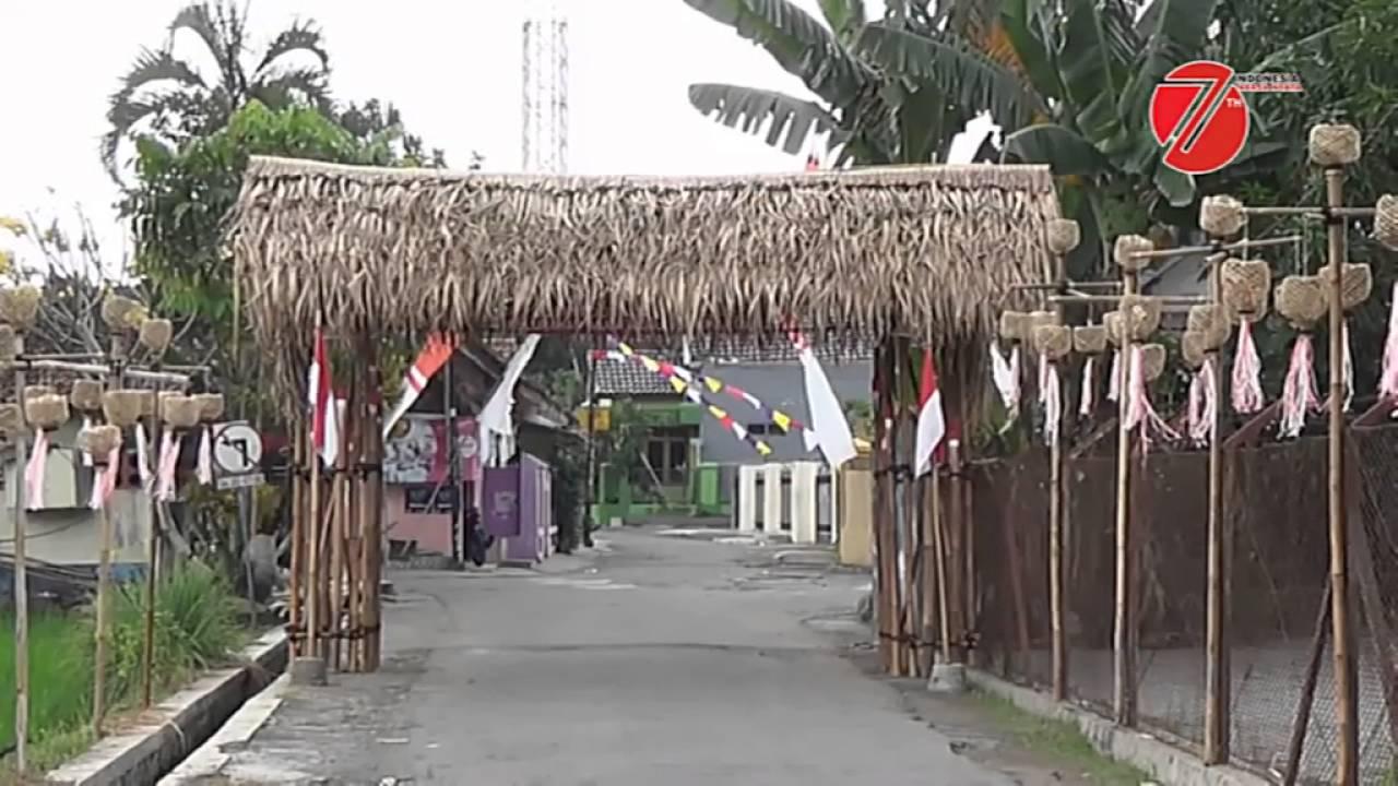 Gapura Minimalis Terbuat Dari Bambu Gapura Hut Ri Dari Bambu Nusagates