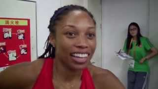 Allyson Felix After Round 1 of 400m at #Beijing2015