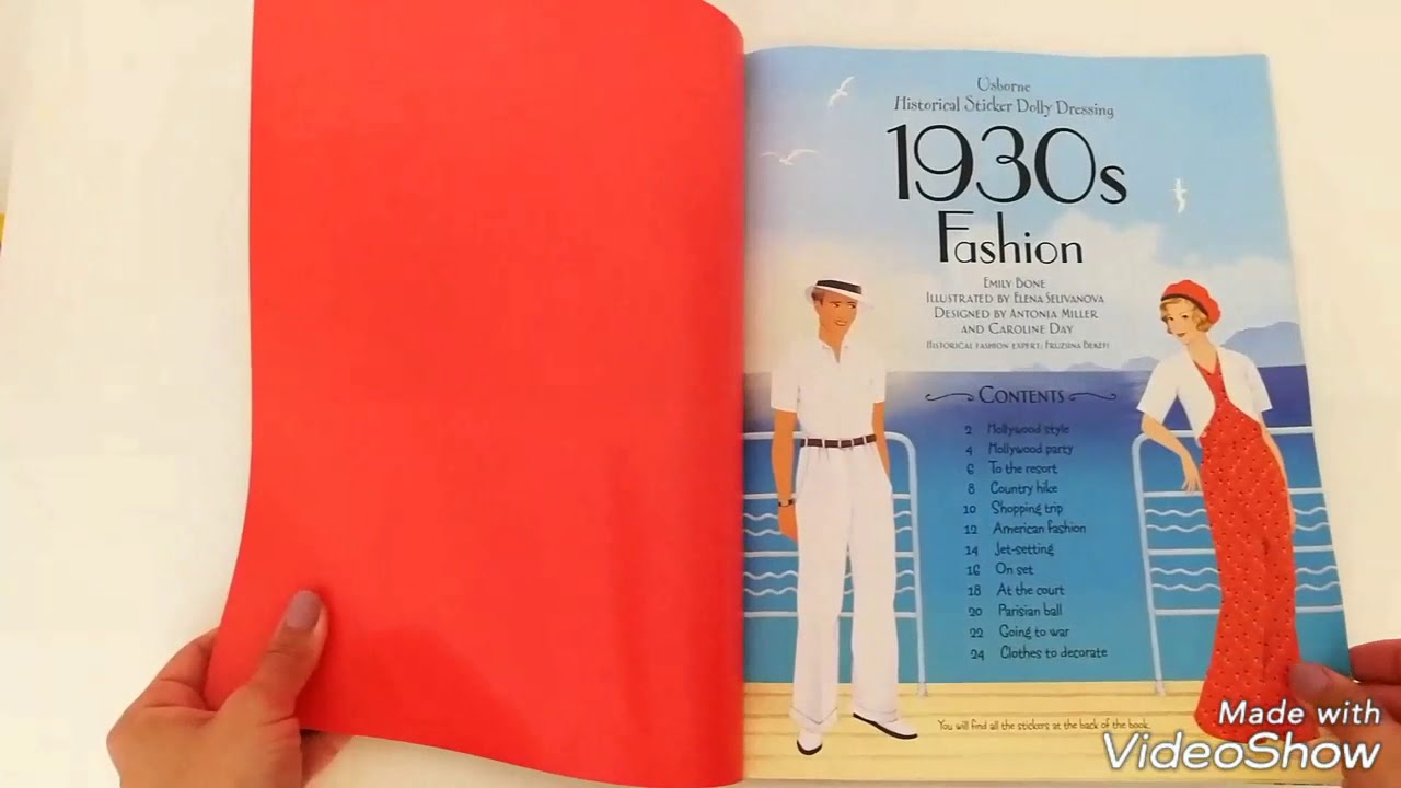 Historical Sticker Dolly Dressing 1930s Fashion Usborne Youtube